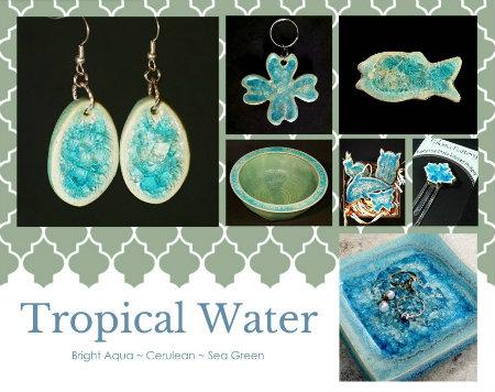 aqua glass colors