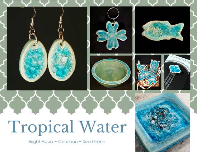 beach sea glass color tropical