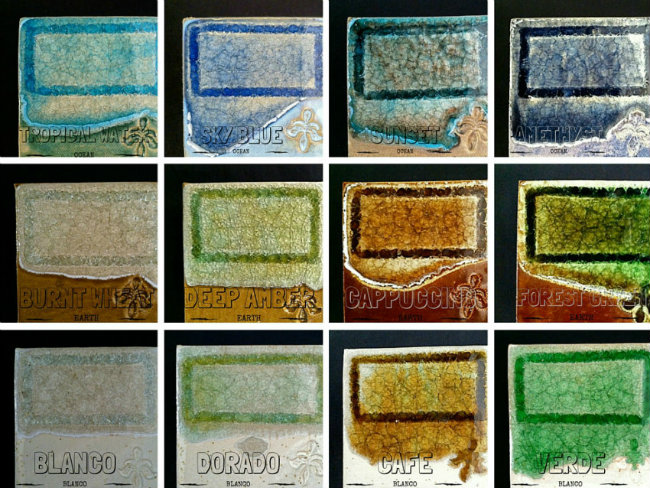 recycled glass products color chart
